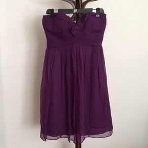 Donna Morgan strapless purple dress